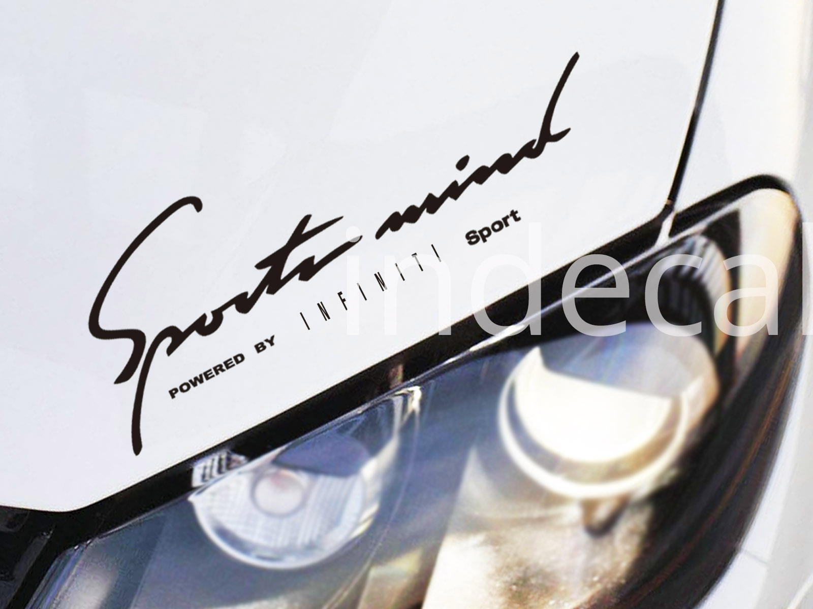 1 x Infiniti Sports Mind Sticker - Black