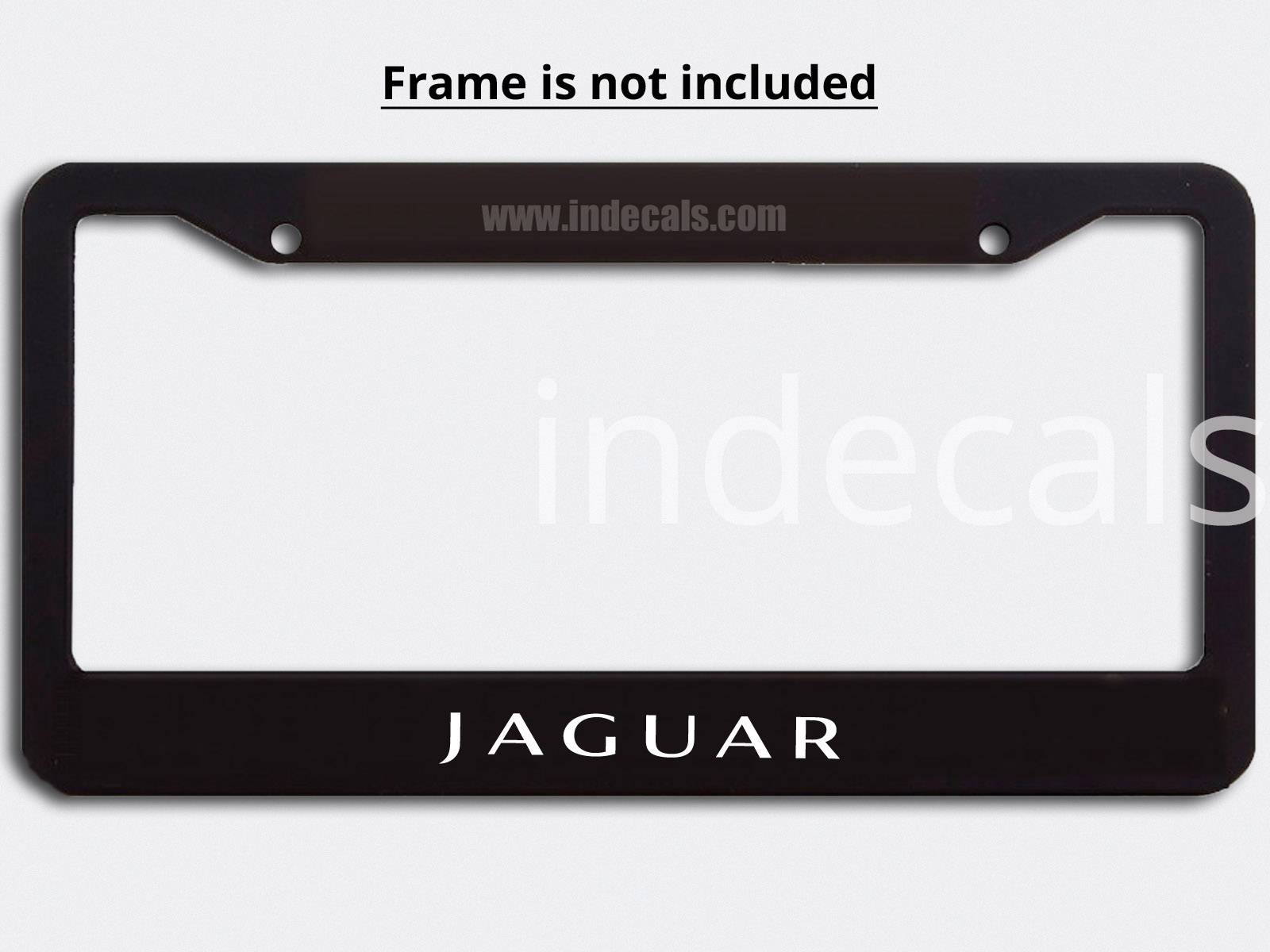 3 x Jaguar Stickers for Plate Frame - White