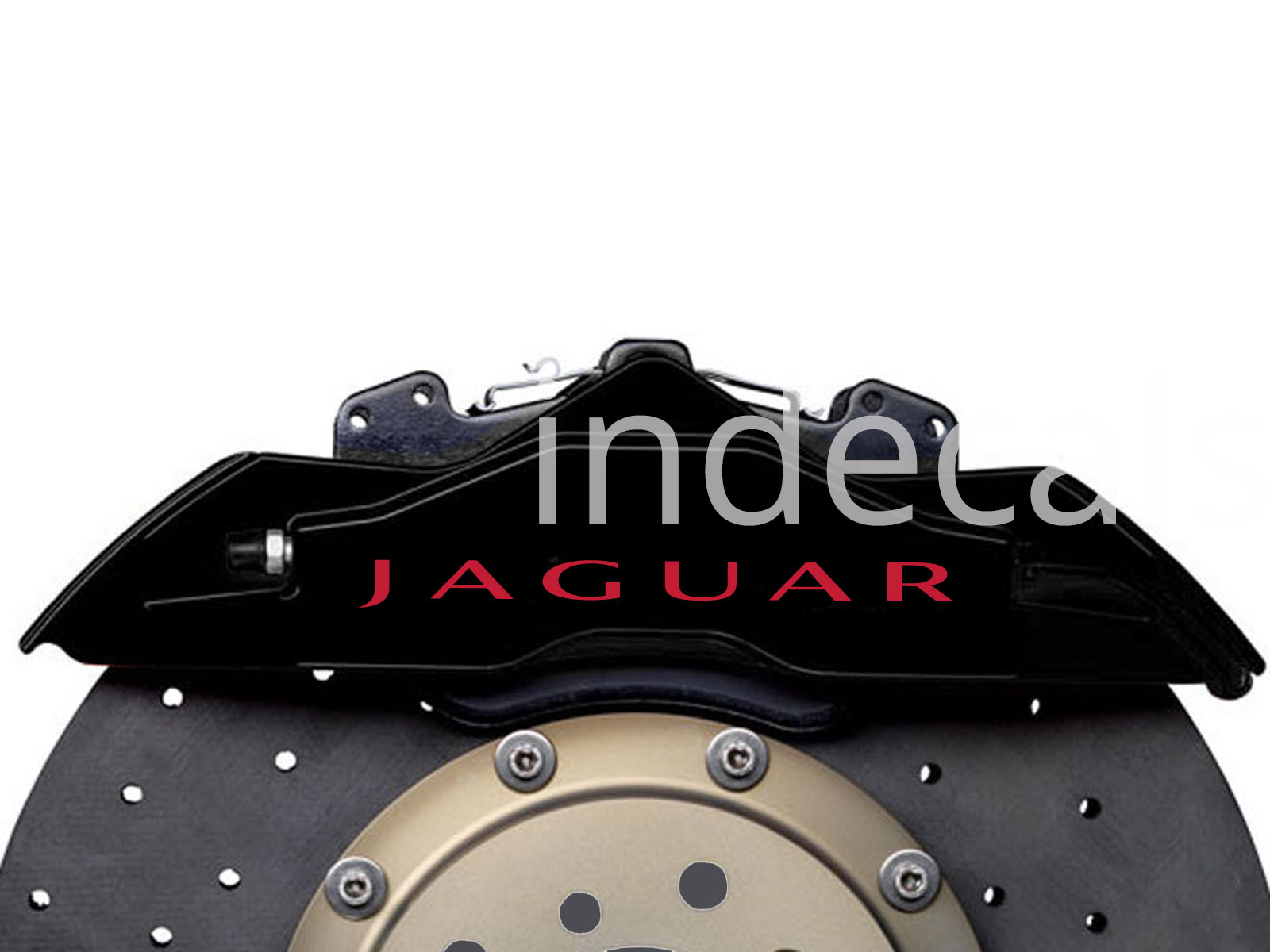 6 x Jaguar Stickers for Brakes - Red
