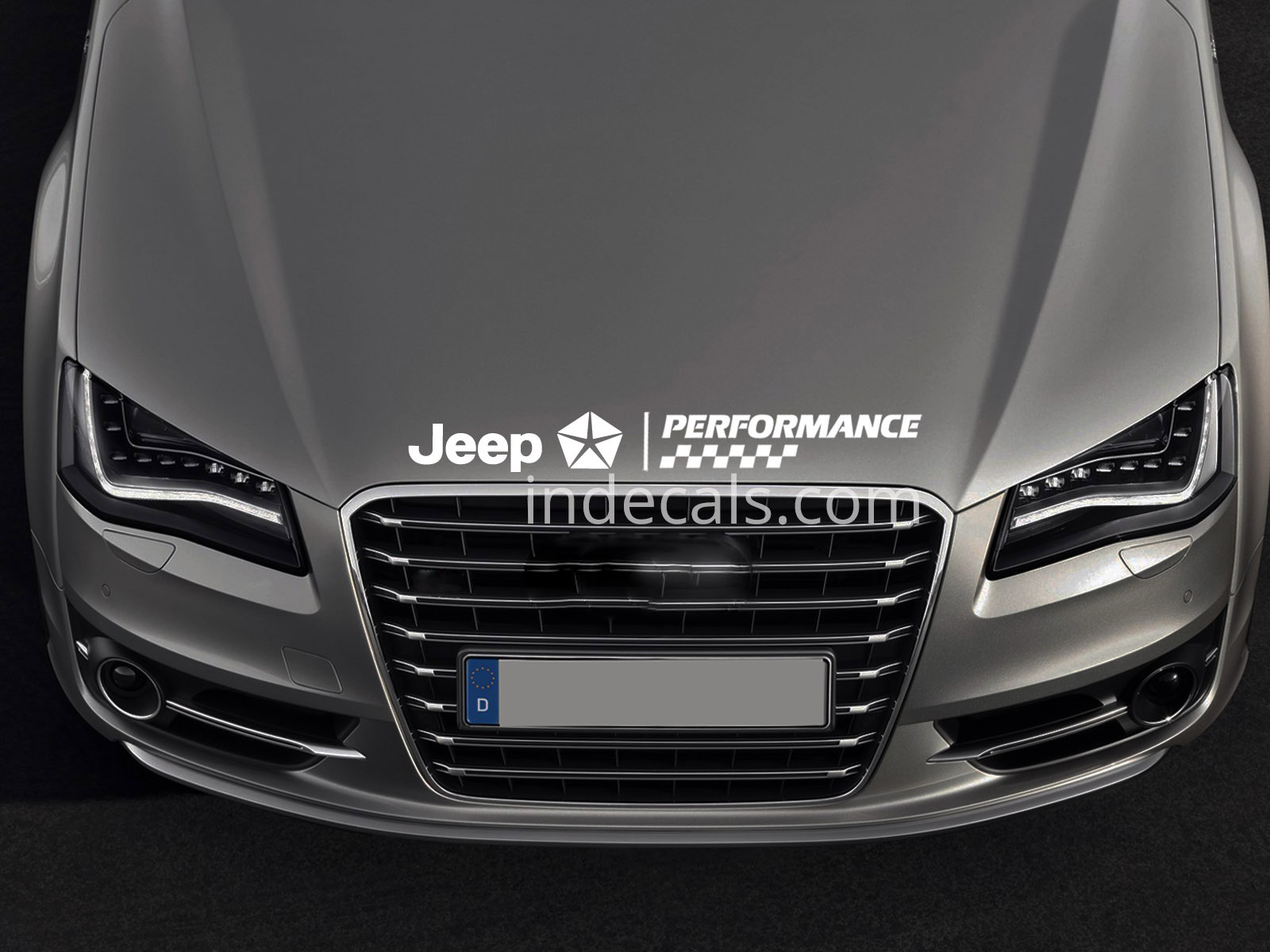1 x Jeep Peformance Sticker for Bonnet - White