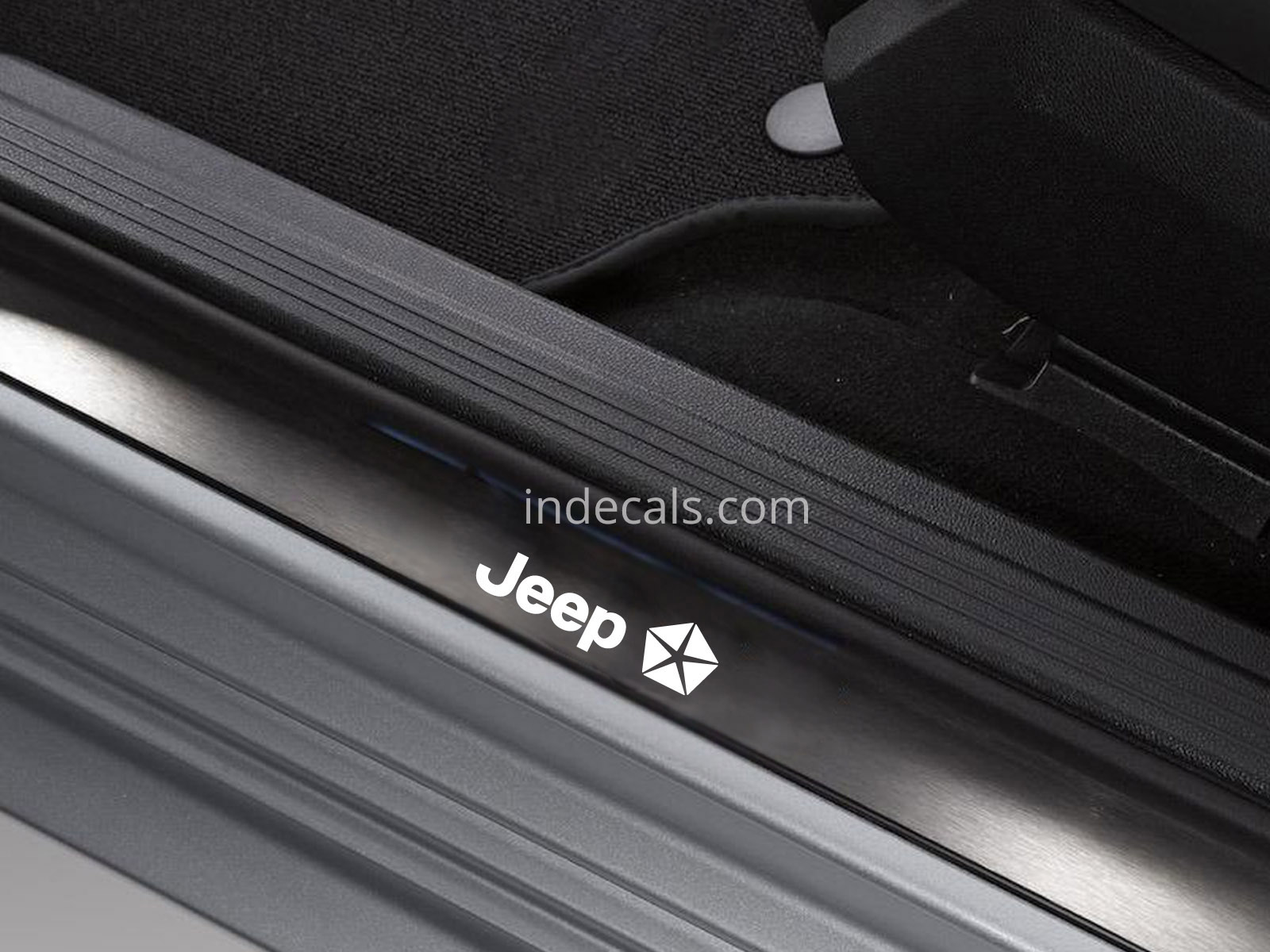 6 x Jeep Stickers for Door Sills - White