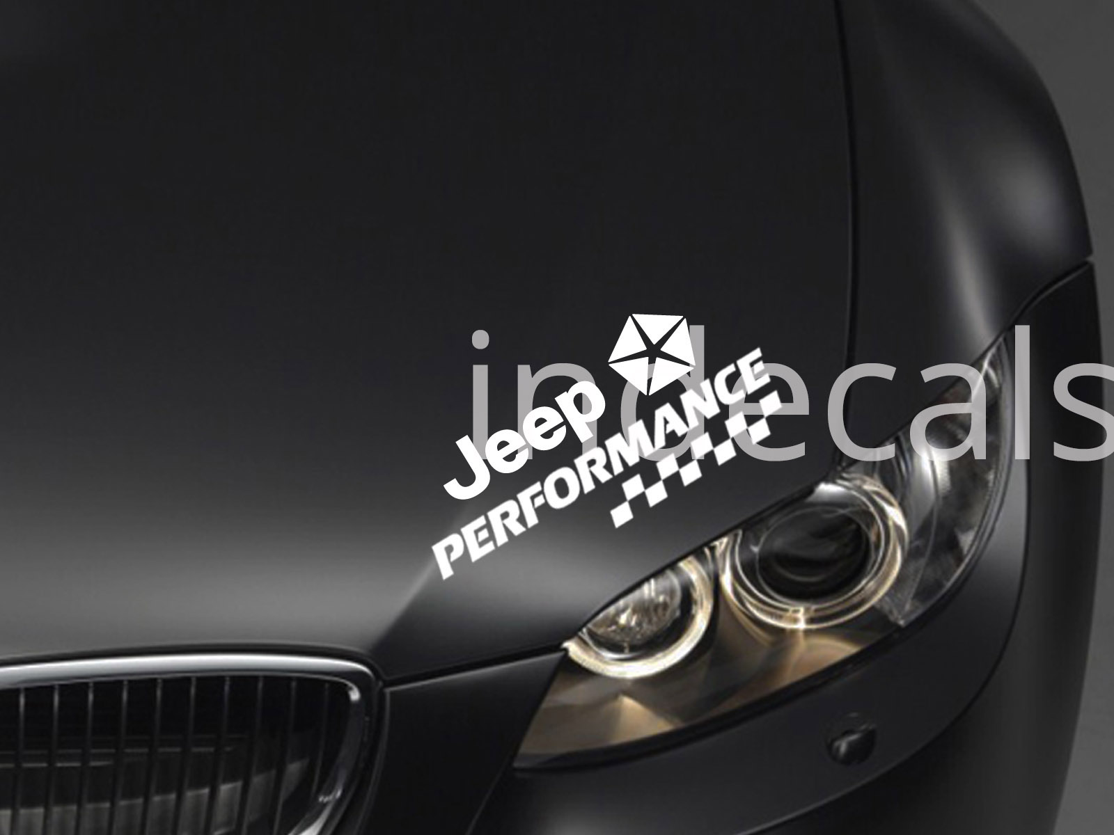 1 x Jeep Performance Sticker for Eyebrow - White