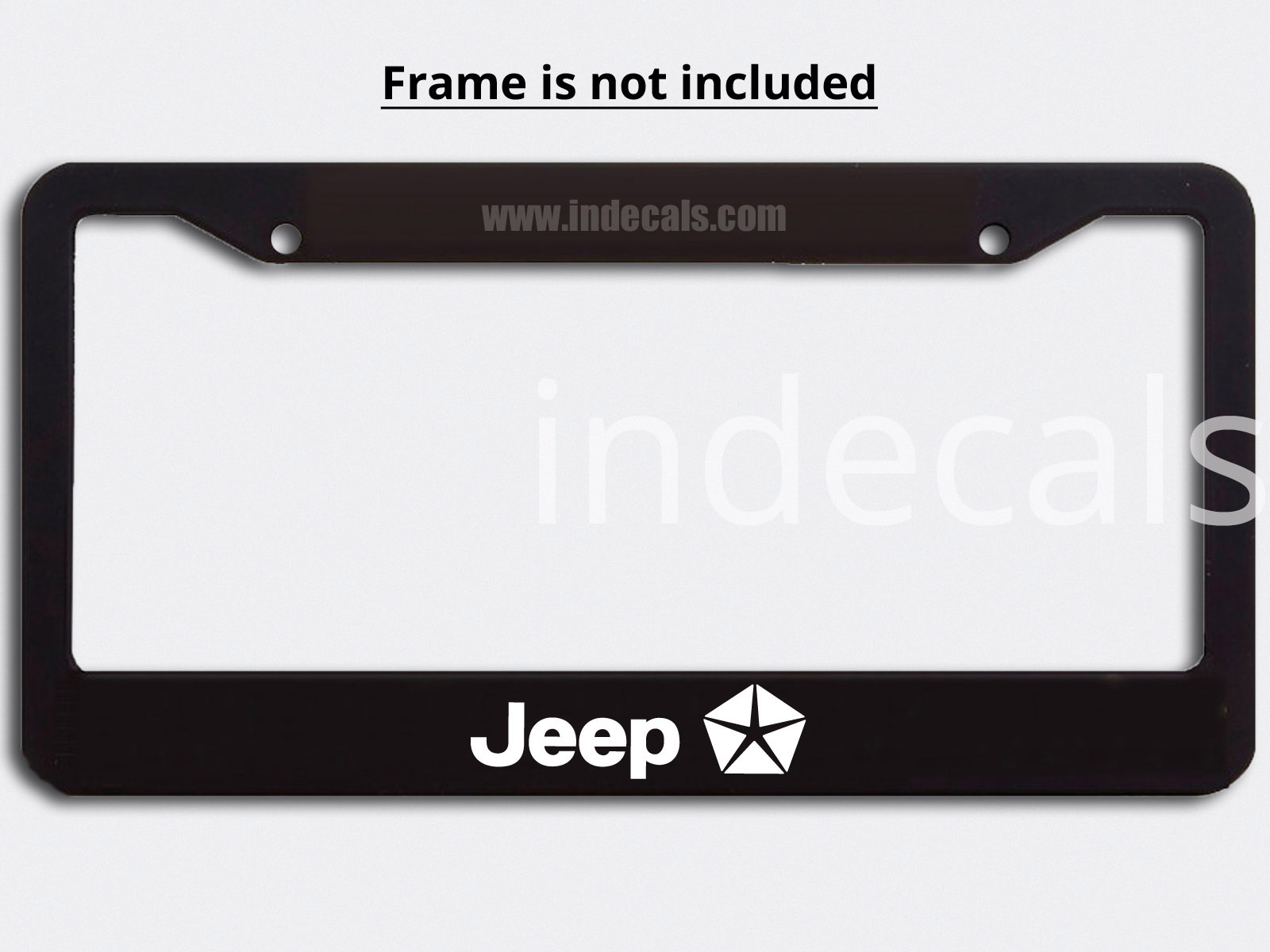3 x Jeep Stickers for Plate Frame - White