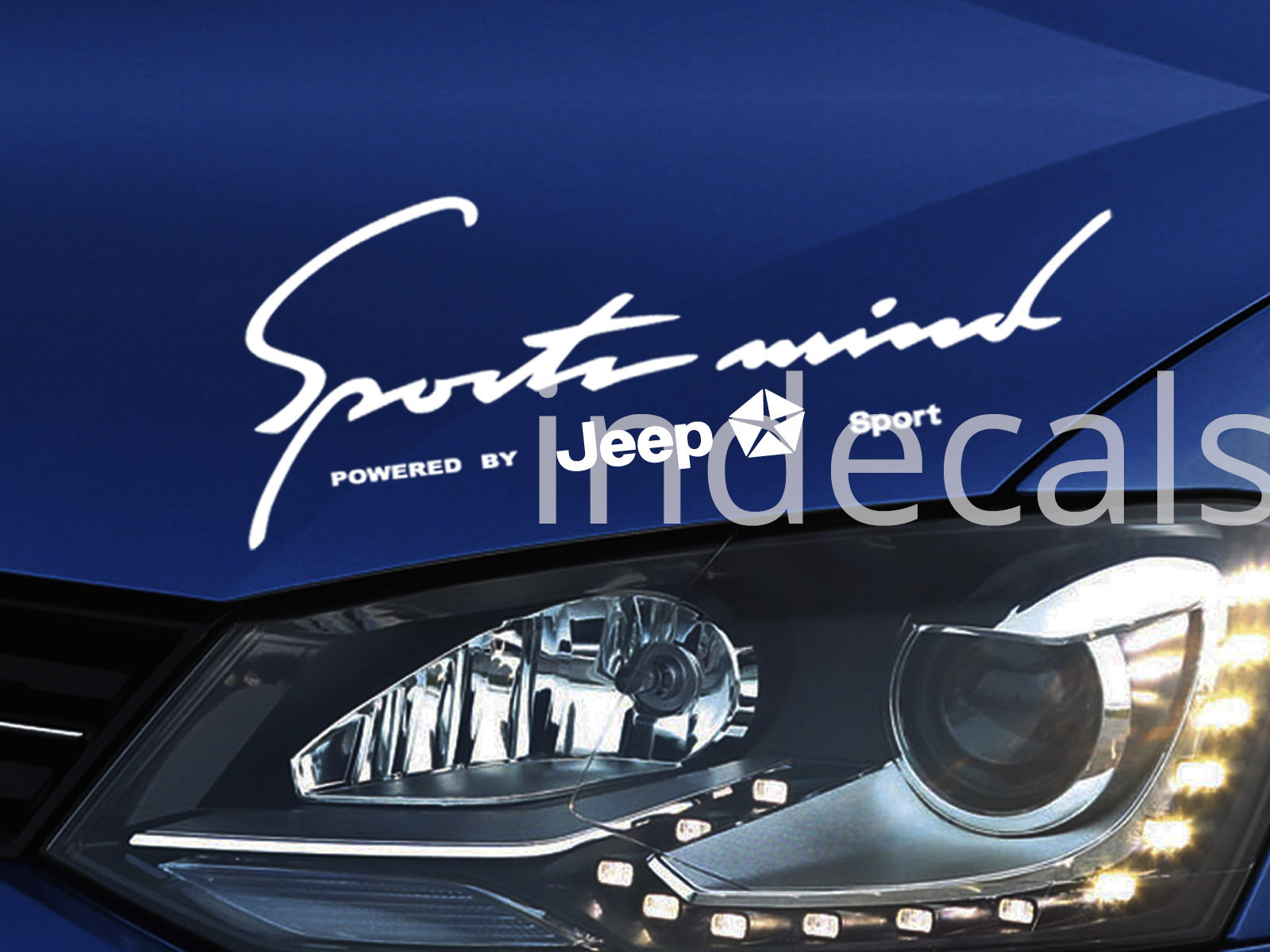1 x Jeep Sports Mind Sticker - White