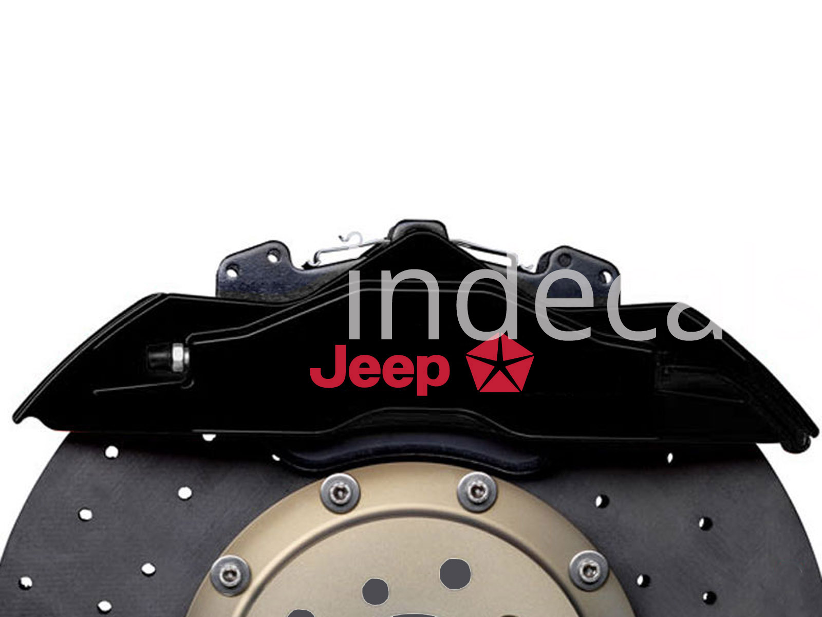 6 x Jeep Stickers for Brakes - Red