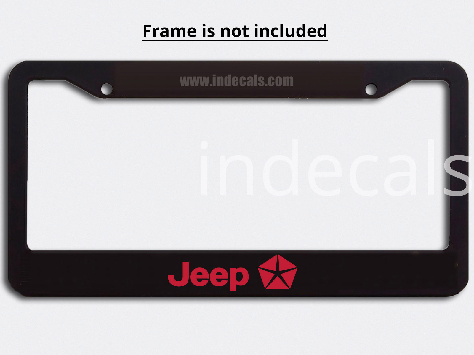 3 x Jeep Stickers for Plate Frame - Red