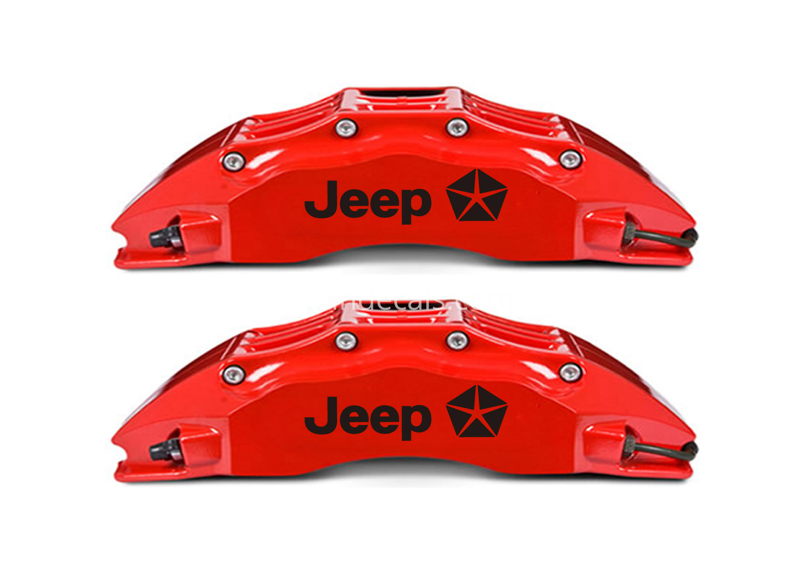 6 x Jeep Stickers for Brakes - Black