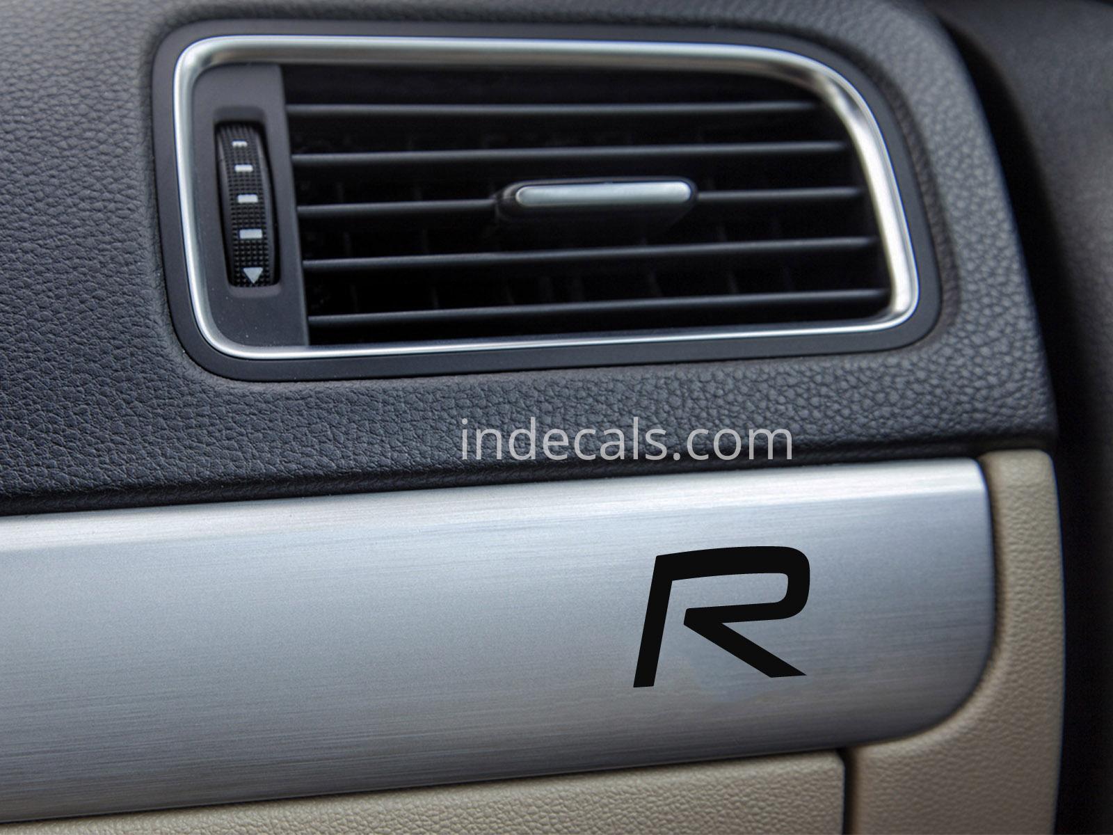 2 x volvo r design stickers for dash trim black