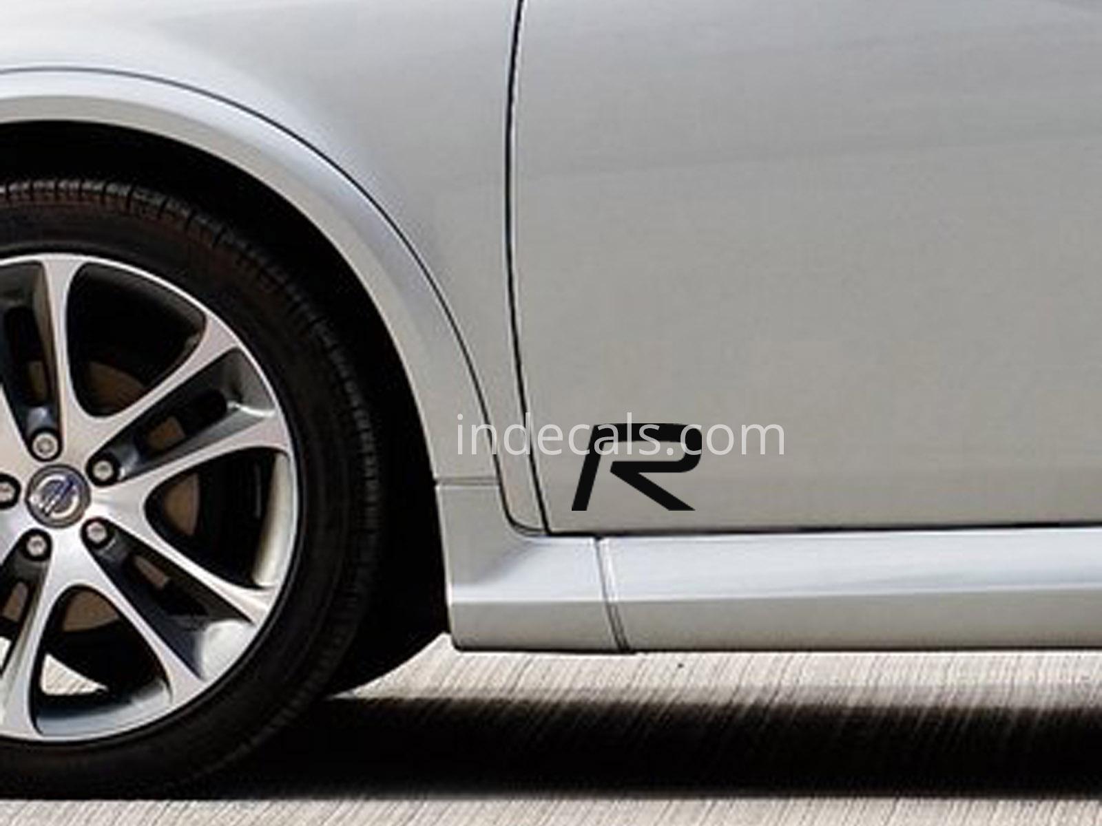2 x volvo r design stickers for front door black
