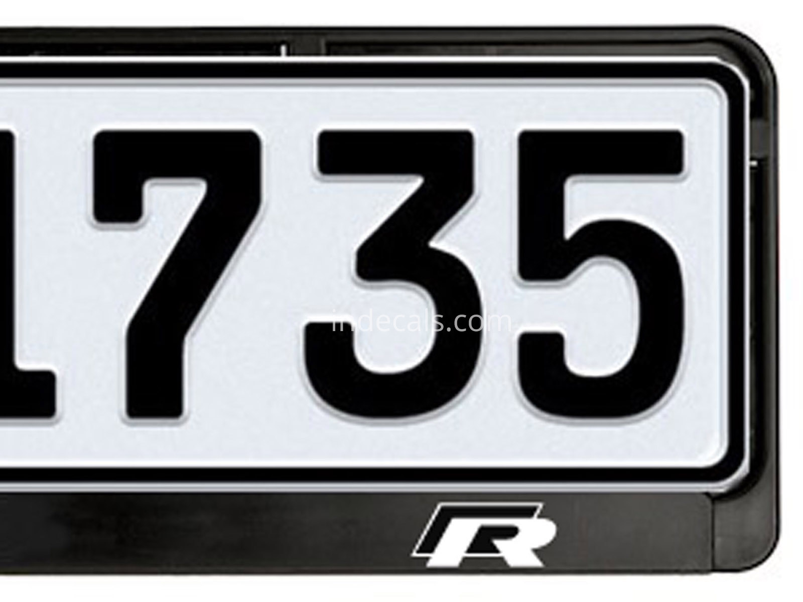 2 x Volkswagen R-Line stickers for License Plate Frame - indecals.com