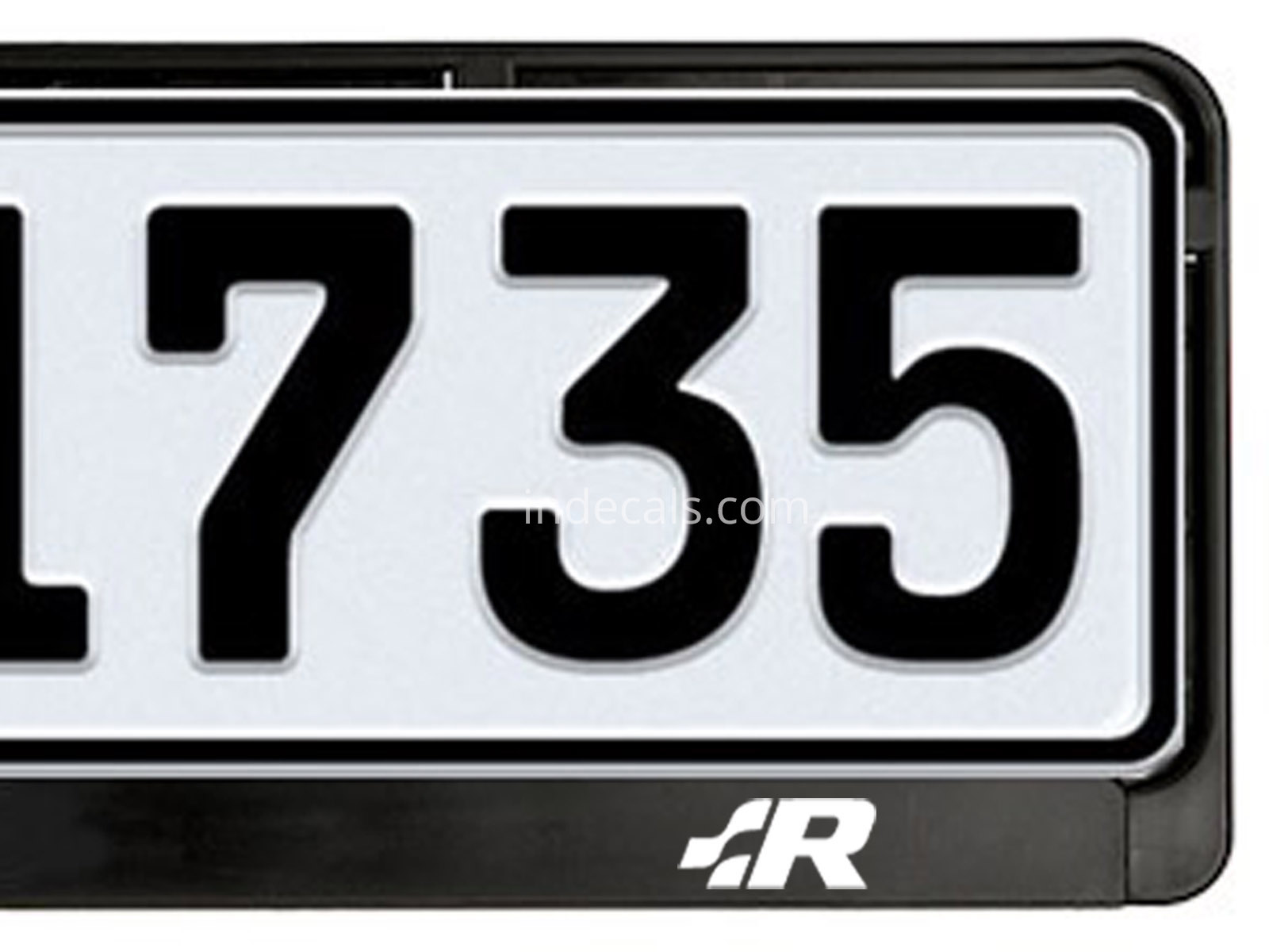 2 x Volkswagen Racing stickers for License Plate Frame