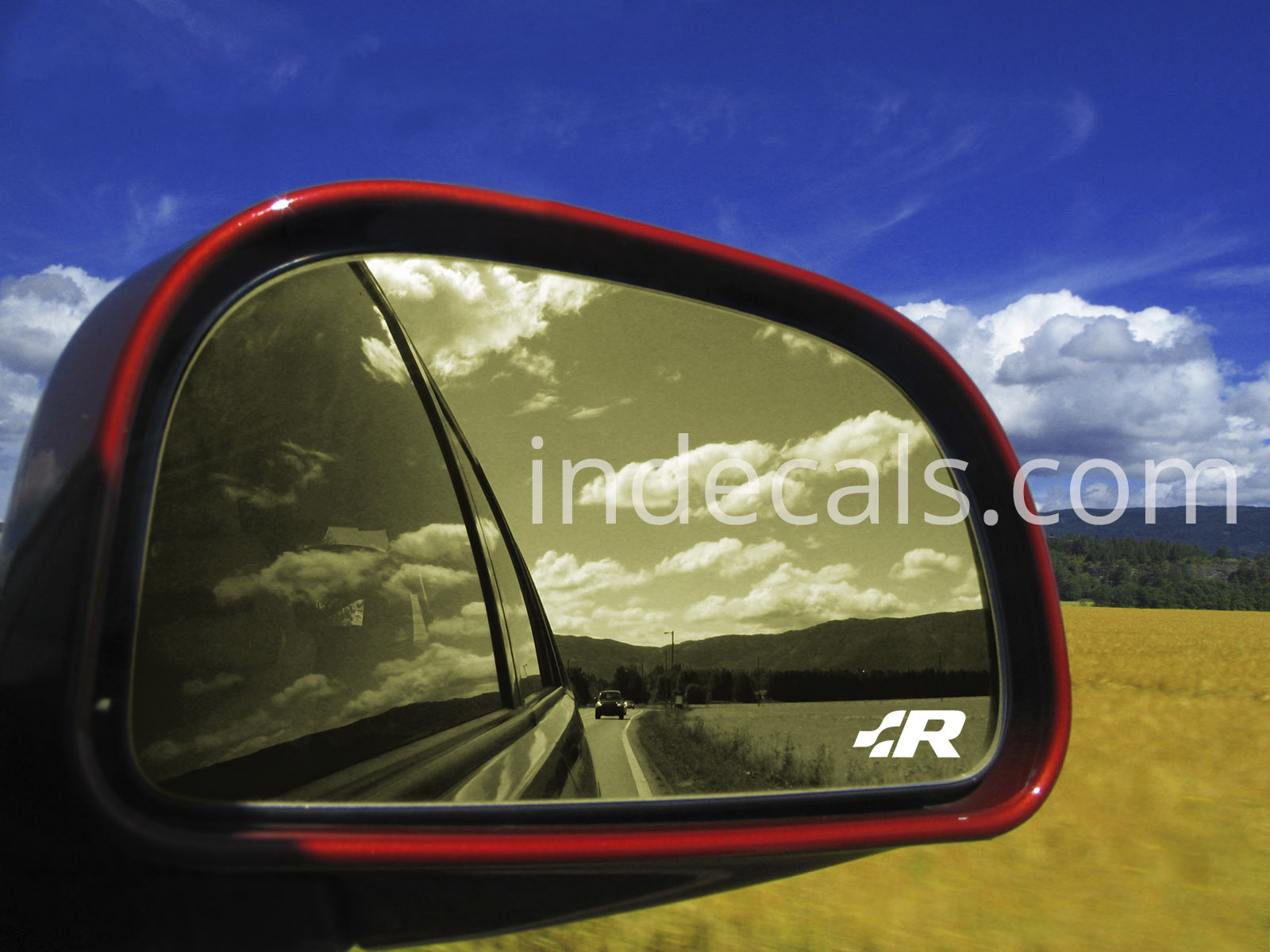 2 x Volkswagen Racing stickers for Mirror
