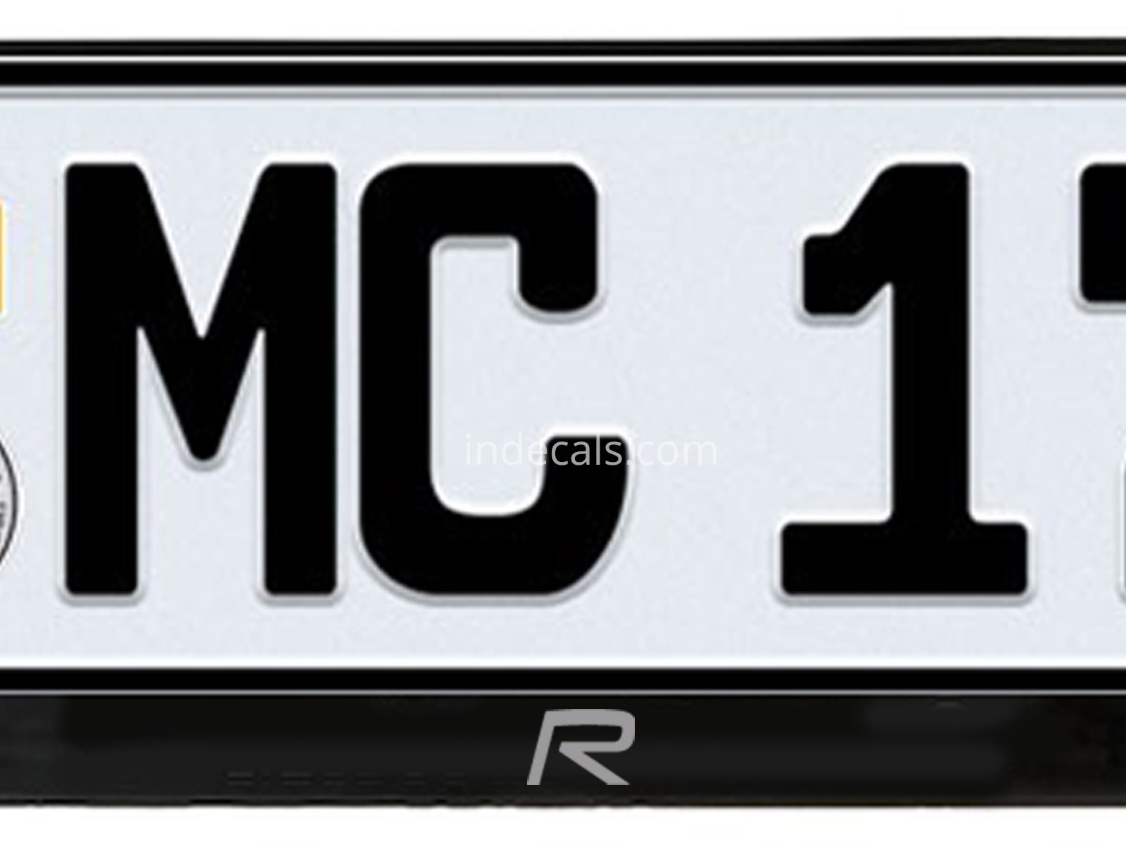 2 x Volvo R-Design stickers for License Plate Frame Silver ...